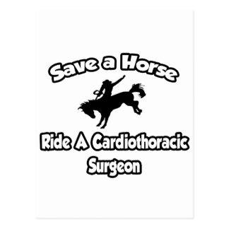 Save a Horse, Ride a Cardiothoracic Surgeon Postcard