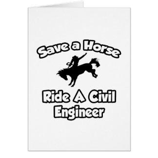 Save a Horse, Ride a Civil Engineer Card