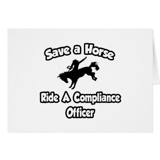 Save a Horse, Ride a Compliance Officer Cards