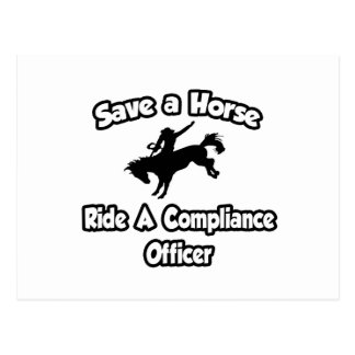 Save a Horse, Ride a Compliance Officer Postcard