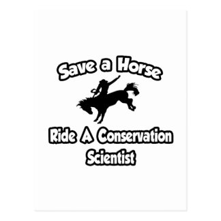 Save a Horse, Ride a Conservation Scientist Postcard