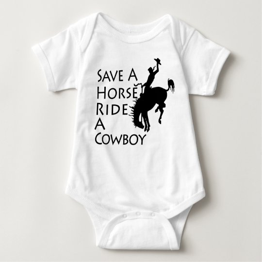 Save A Horse Ride A Cowboy Baby Bodysuit