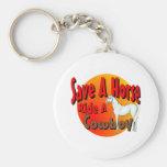 Save A Horse Ride A Cowboy Basic Round Button Keychain