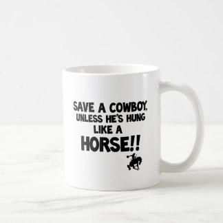 Save A Horse Ride A Cowboy Classic White Coffee Mug