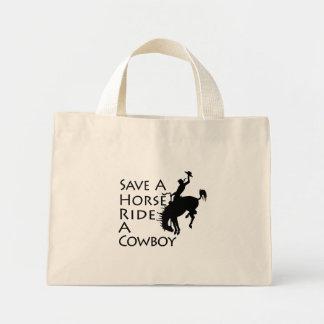 Save A Horse Ride A Cowboy Mini Tote Bag