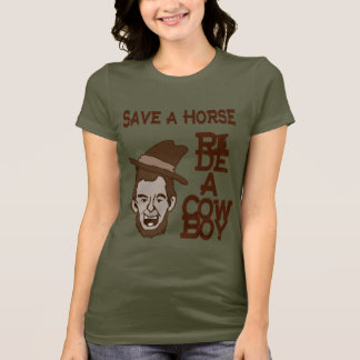 Save A Horse Ride A Cowboy Woman's Dark Shirt