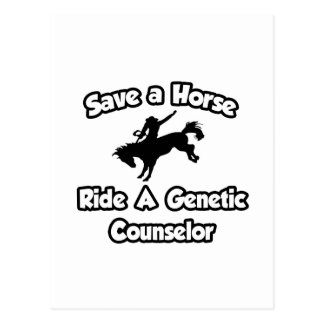 Save a Horse, Ride a Genetic Counselor Postcard
