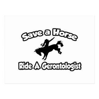 Save a Horse, Ride a Gerontologist Postcard