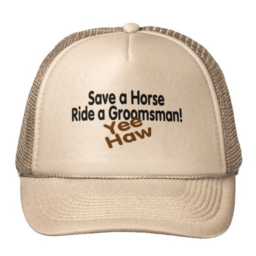 Save A Horse Ride A Groomsman Hat