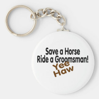 Save A Horse Ride A Groomsman Keychain