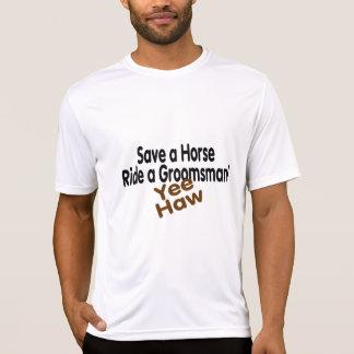 Save A Horse Ride A Groomsman Tee Shirts