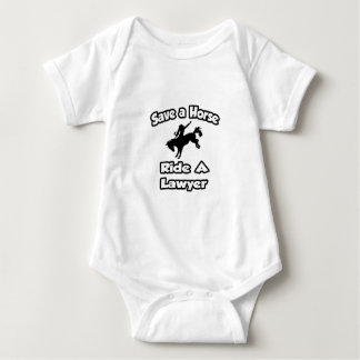 Save a Horse .. Ride a Lawyer Baby Bodysuit