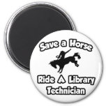 Save a Horse, Ride a Library Technician Refrigerator Magnets