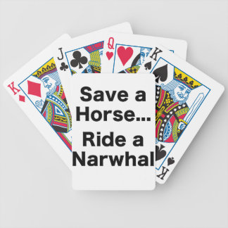 Save a Horse... Ride a Narwhal Bicycle Poker Deck