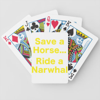 Save a Horse... Ride a Narwhal Bicycle Playing Cards