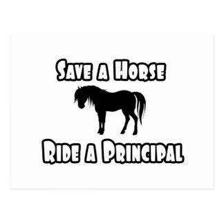Save a Horse, Ride a Principal Postcard