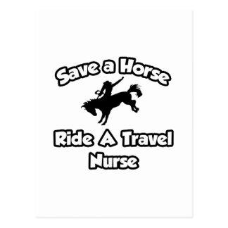 Save a Horse, Ride a Travel Nurse Postcard