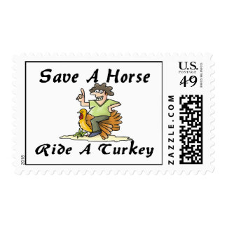 Save A Horse Ride A Turkey Postage