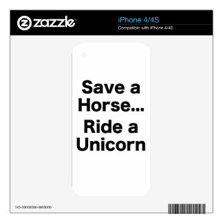 Save a Horse... Ride a Unicorn Skins For iPhone 4S