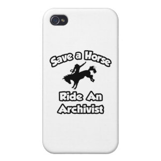 Save a Horse, Ride an Archivist iPhone 4 Cover