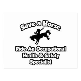 Save a Horse, Ride an Occ Health Specialist Postcard