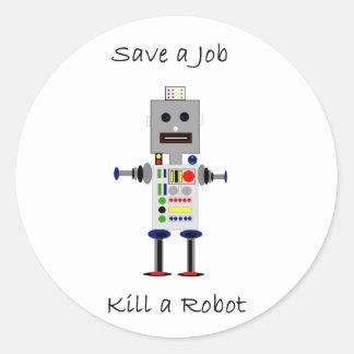 Save a Job Classic Round Sticker