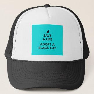 Save A Life Adopt A Black Cat Trucker Hat