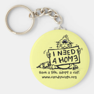 Save a life, adopt a cat! Keychain