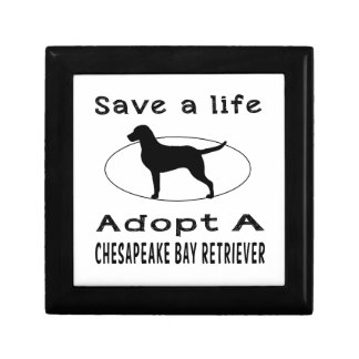 Save a life adopt a Chesapeake Bay Retriever Gift Boxes