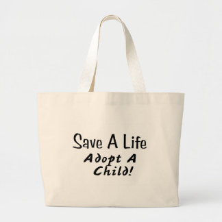 Save A Life Adopt A Child Canvas Bag
