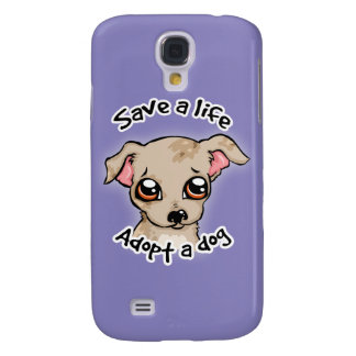 Save a life.. adopt a dog puppy logo samsung galaxy s4 case