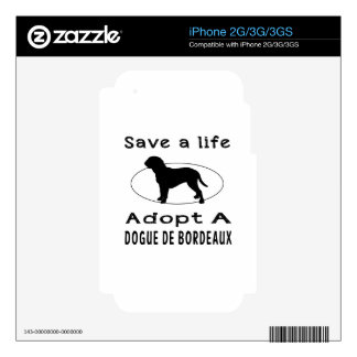 Save a life adopt a Dogue de Bordeaux Skins For iPhone 3G