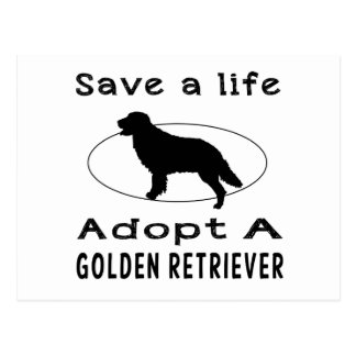 Save a life adopt a Golden Retriever Postcard