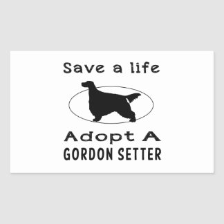 Save a life adopt a Gordon setter Stickers