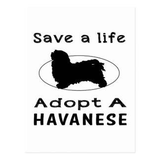 Save a life adopt a Havanese Postcard