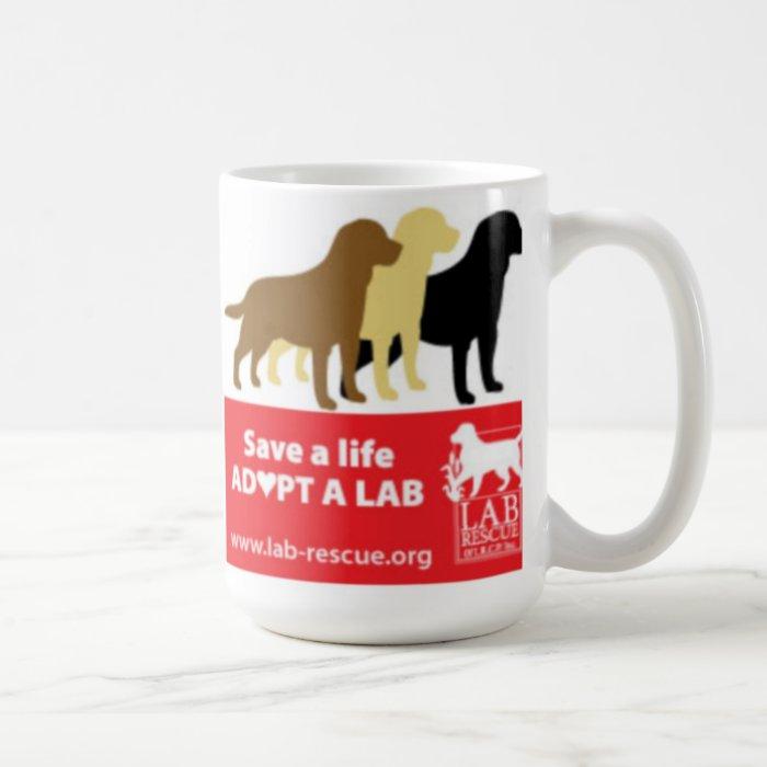 Save A Life Adopt A Lab Mug