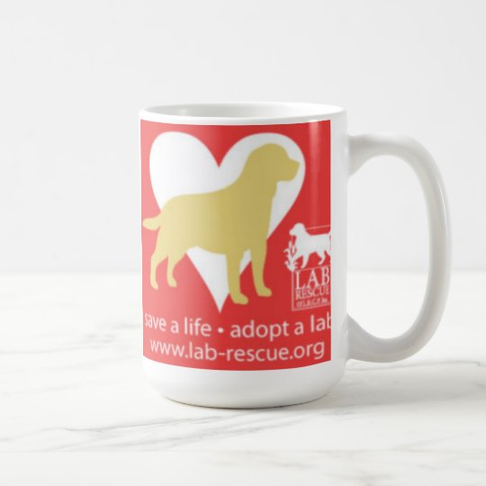 Save A Life Adopt A Lab Mug, Yellow Lab Coffee Mug