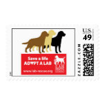 Save A Life Adopt A Lab Stamps
