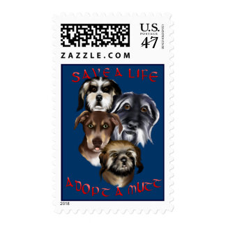 Save A Life_Adopt A Mutt Postage