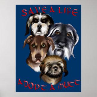 Save A Life_Adopt A Mutt Poster