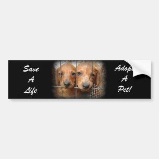 Save A Life Adopt A Pet Bumper Sticker