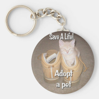 Save A Life Adopt A Pet Keychain