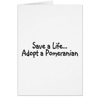 Save A Life Adopt A Pomeranian Card