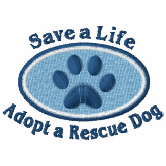 Save A Life Adopt A Rescue Dog (Blue) Polo Shirt