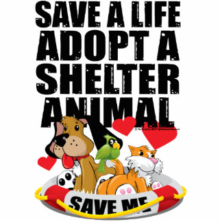 Save A Life Adopt A Shelter Animal Cutout