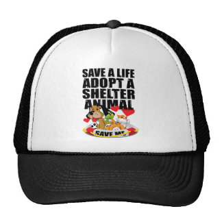 Save A Life Adopt A Shelter Animal Trucker Hat