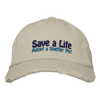 Save a Life - Adopt a Shelter Cat Embroidered Baseball Cap