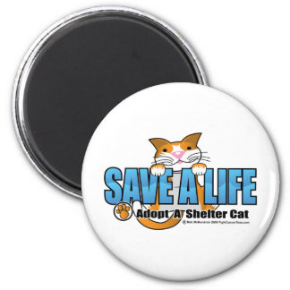 Save A Life: Adopt A Shelter Cat Magnet