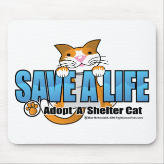 Save A Life: Adopt A Shelter Cat Mouse Pad