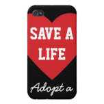 Save a Life-Adopt a Shelter Pet iPhone 4/4S Case